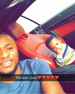 """Men leave another man's wife alone"" Ubi Franklin preaches, shows off his son"