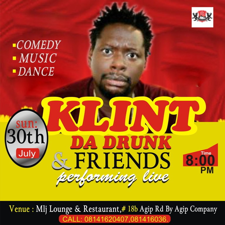 Special Invitation: Klint Da Drunk & Friends Storms MLJ Lounge this Sunday