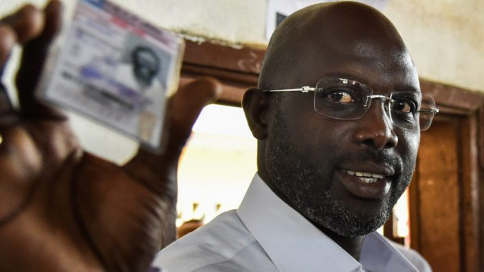 Congrats!  Footballer George Weah Retains Lead In Liberian Presidential Election