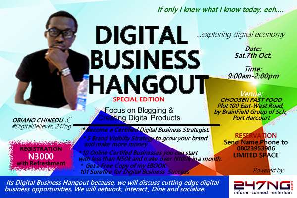 DIGITAL BUSINESS HANGOUT | Special Edition | Port Harcourt, this Sat 7th Oct. Special Edition