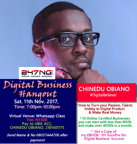 Digital Business Hangout [Virtual Edition] | Sat 11th Nov 2017