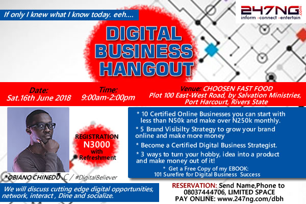 BREAKING: DIGITAL BUSINESS HANGOUT 2.0 | 250K Monthly -PORT HARCOURT