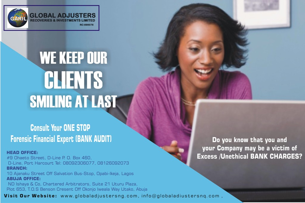 Our simple requirement to Claim Excess Bank Charges in Nigeria. [Global Adjusters Recoveries and Investment Limited]
