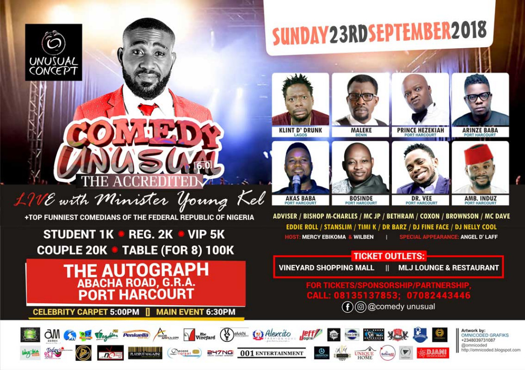 Entertainment | KEEP A DATE | COMEDY UNUSUAL with Minister Youngkel