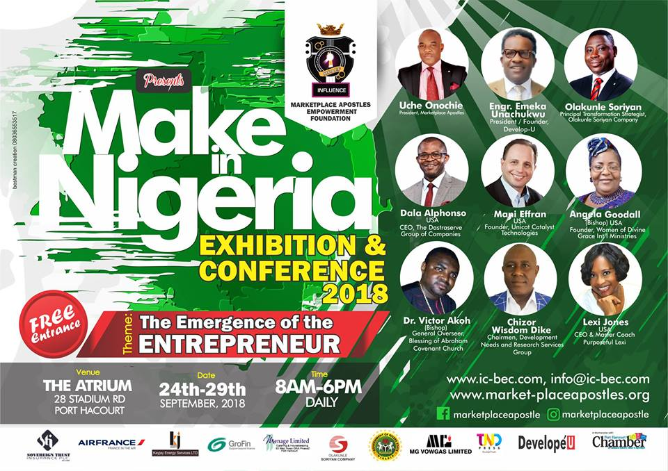 MAKE IN NIGERIA {EXHIBITION AND CONFERENCE 2018} PORT HARCOURT