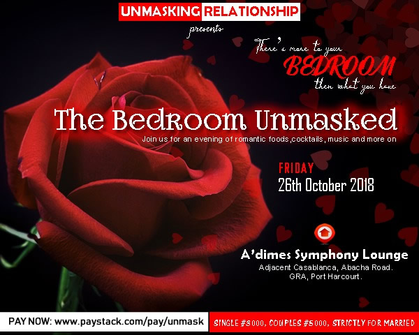 Unmask Bedroom Couples Hangout  this Friday