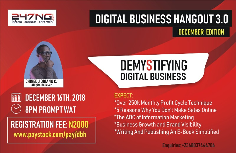 Digital Business Hangout 3.0, December Edition: DEMYSTIFYING DIGITAL BUSINESS